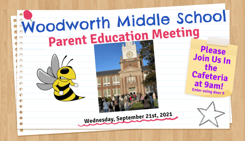 Please Join Us- Parent Education Meeting