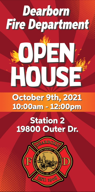 Dearborn Fire Department Open House and Live Demonstration Event- 2 Locations